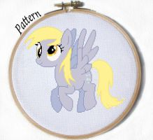 Derpy Hooves cross stitch pattern by JuliefooDesigns