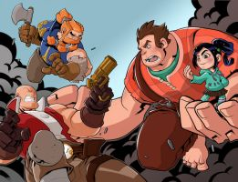 SkullKickers vs Wreck it Ralph by frozeniron21