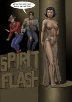 TLIID Flash 75 years - with The Spirit and P'Gell by Nick-Perks