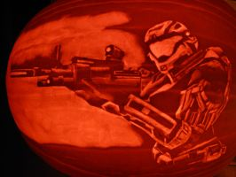 Halo Reach Pumpkin Carving by MrSultan531