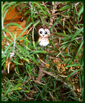 Chibi-Charms: Barn Owl by MandyPandaa