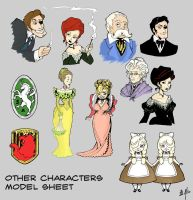 Other Characters Model Sheet by sadwonderland