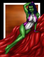 She-Hulk Lounging by Romey1973