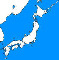 Blank map of Japan template by kyuzoaoi