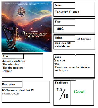 Pros and Cons: Treasure Planet by Spongey444