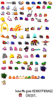 Way More Kirby Hats by KENNYPWNAGE