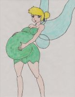 Pregnant Tinkerbell by Daidekapai