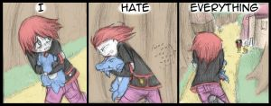 Hate - 1 by Draikinator