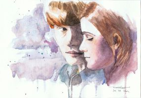 Ron and Hermione by ninoikeren
