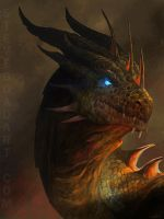 Dragon Portrait by stevegoad
