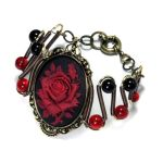 Red Rose Bracelet by CatherinetteRings