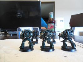 First Miniature Paintings ~ Dark Angels Back by Leimary
