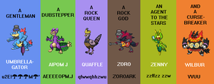 Twitch Plays Pokemon Gen V Blaze Black 2 Team by GlintSM