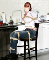 Tied up and gagged over the mouth by cuntofaman