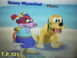 Skinny and Pluto by tuffpuppy101