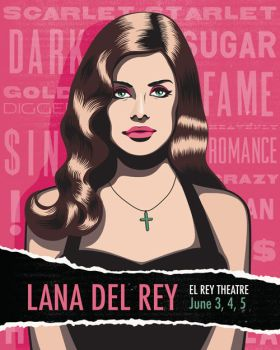 Lana Del Rey Poster by theyellowcoyote
