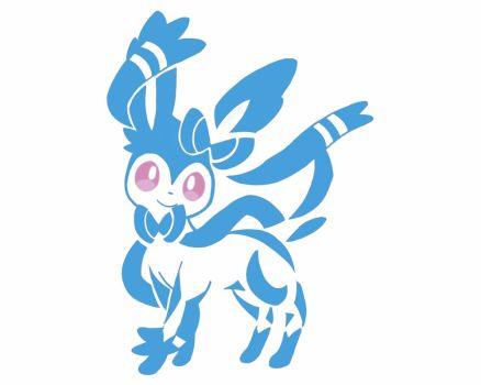 Sylveon Shiny Tattoo Colour by Sparky-2000