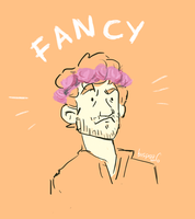 Fancy Hugh Dancy (flowercrown) by bispau