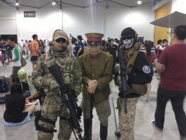 Japanese Army Officer with NATO soldiers by DarthKaiser