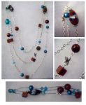 Blue Jewelry Set by Teena-Bee