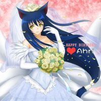 League of Legends - Happy Birthday Ahri by tonnelee