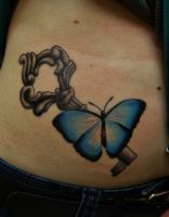 butterfly key by INKjunkie666