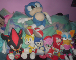 Sonic, MegaSonic, Shadow, Amy, Tails, Knux + Rouge by MissLuckychan29