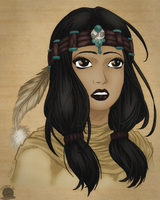 Native American Maiden by Blackmoonrose13