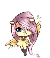 fluttershy chibi by Tigermint