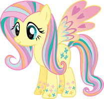 Rainbow Power Fluttershy Vector by icantunloveyou