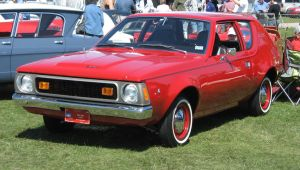 1971 AMC Gremlin in red. by motoryeti