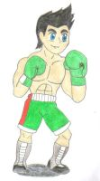 shirtless Little Mac- color by ravenf6