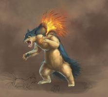 Typhlosion Update by ReneCampbellArt