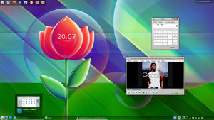 Linux Mint 14 - Babble Flower by LiquidSky64