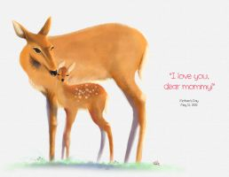 Doe and Fawn - Mother's Day by wowhappyfish