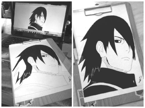 Drawing Uchiha sasuke [REDRAW] by Raih4n