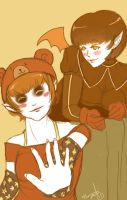 Cressy and Dancy by hatchback-girl