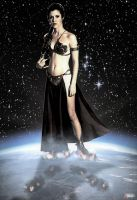 Princess Leia A Goddess of the Stars by GiantessStudios101