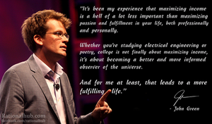 John Green on education and maximizing income.. by rationalhub
