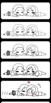 Chibi Comic : Kissu by Tirachi