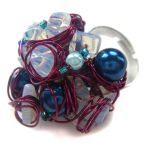 Purple and blue wire ring by fairy-cakes