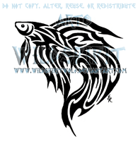 Tribal Betta Fish Tattoo by WildSpiritWolf