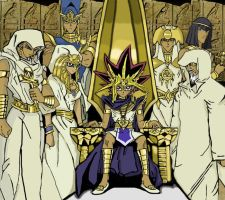 Pharaoh and the six priests by the-pharaoh-Atemu