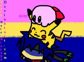Ike, Pikachu, and Kirby by Death-Note-Ninja02