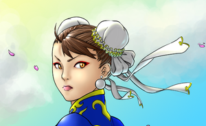 Chun li line art and color test by maromo