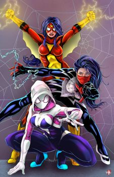 Spider Girls by WiL-Woods