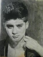 Zayn Malik Portrait by Bluecknight