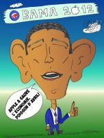 President Obama Caricature Infos Options Binaires by optionsclickblogart