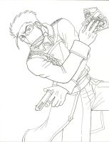 DOUBLE SHOOTER lineart by KN-KL