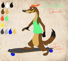 Speedster Weasel - character reference by StanHoneyThief